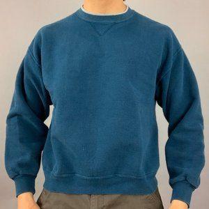 Vintage blue crewneck with grey neck detailing